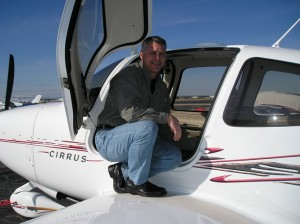 Cirrus with man on wing